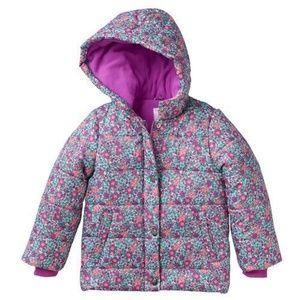 CARTER'S HOODED FLORAL PRINT PUFFER